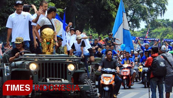 Konvoi Arema 2016 © TimesIndonesia.co.id